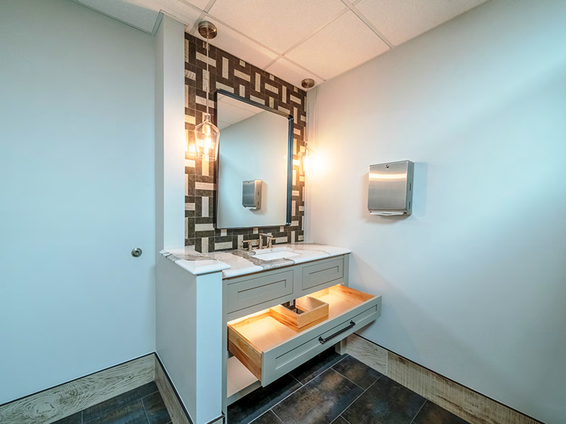 renovation of commercial bathroom in northern virginia
