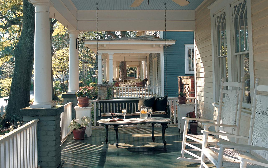 Classic Southern Front Porches