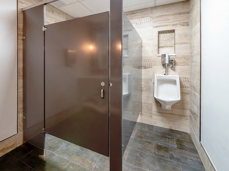 remodeled commercial bathroom by daniels design & remodeling