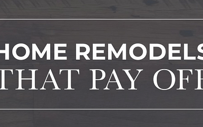 Home Remodels That Pay Off