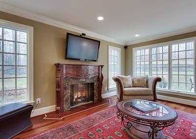Luxury Living Room Remodel in Northern Virginia