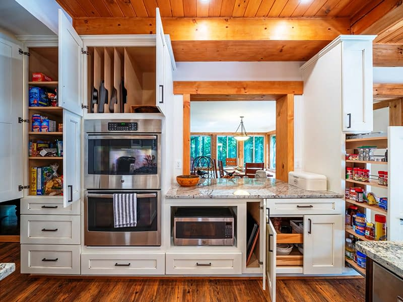 custom kitchen design with double oven in northern virginia