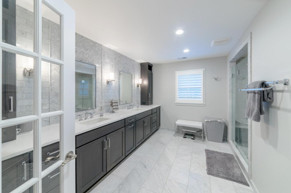 Sustainable bathroom remodel by Daniels Design.
