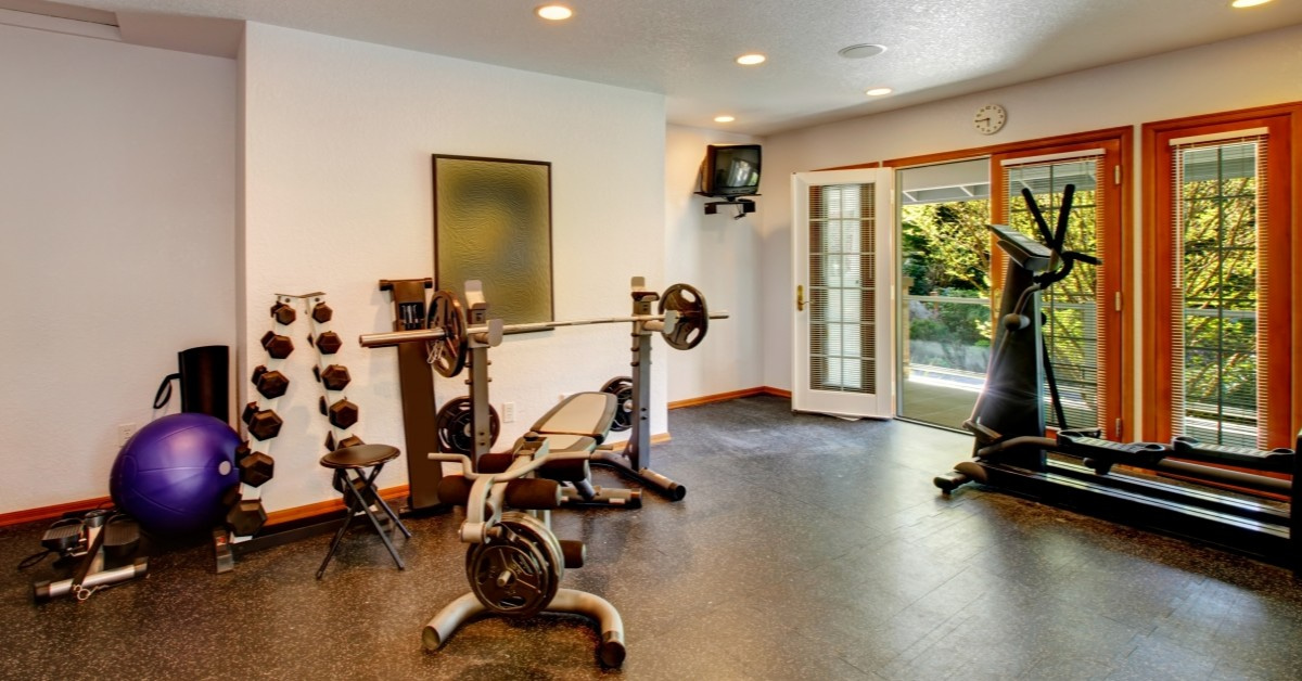 turn living space design into home gym daniels design & remodeling northern virginia